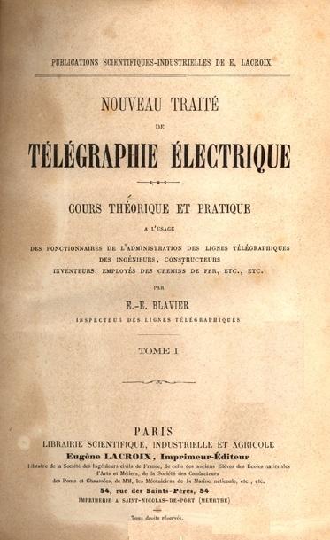 Nouveau traité de télégraphie électrique