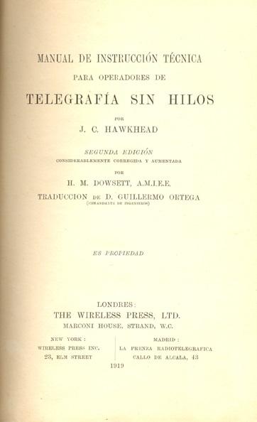 Manual de instrucción técnica para operadores de Telegrafía sin Hilos
