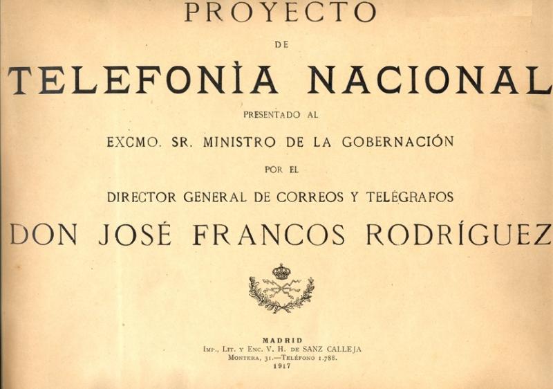 Proyecto de telefonía nacional