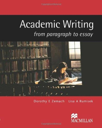 Academic writing : from paragraph to essay