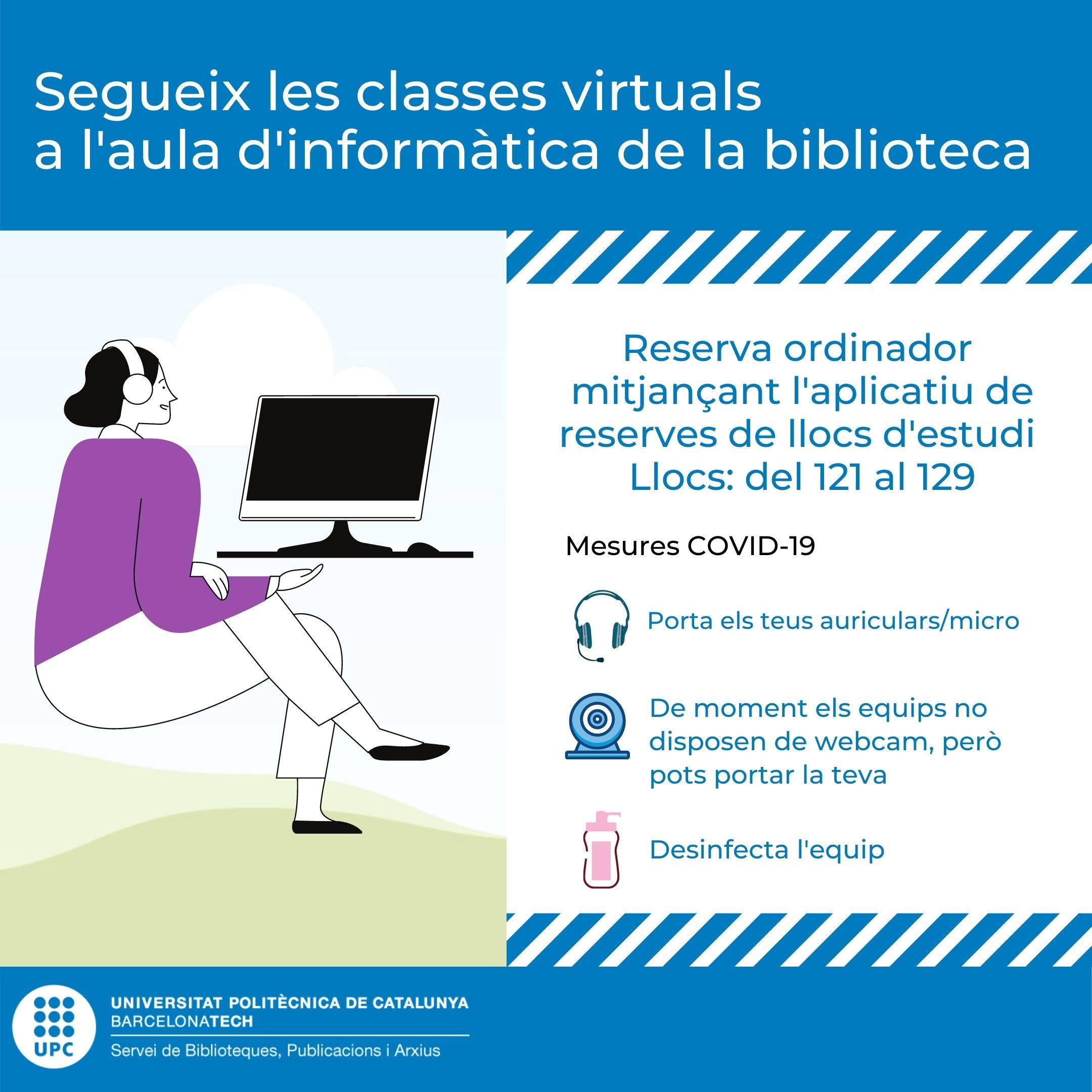 Segueix les classes virtuals a l'aula d'informàtica de la biblioteca