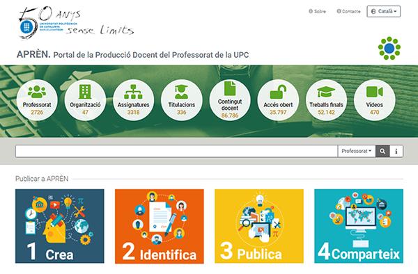 APRÈN: nou portal de la producció docent del professorat de la UPC