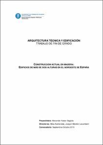 Construcción actual en madera: edificios de más de dos alturas en el noroeste de España
