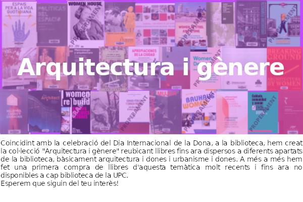 Setmana de la dona: arquitectura i gènere