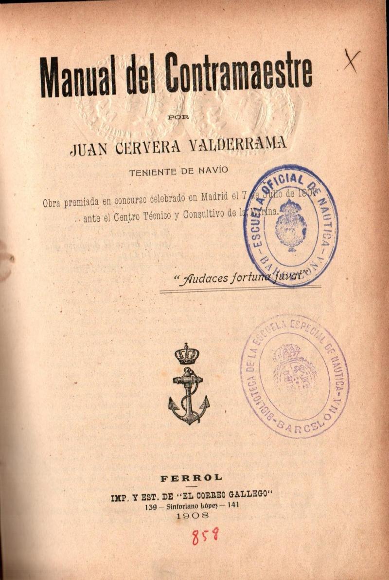 Manual del Contramaestre / Juan Cervera Valderrama