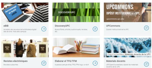Serveis disponibles durant el tancament de biblioteques de la UPC